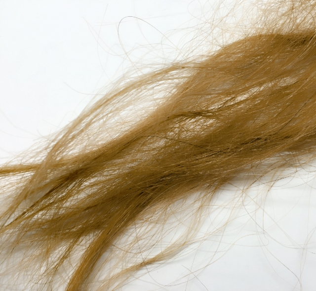日焼けした髪