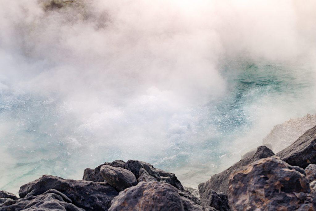 サウナの湯気イメージ