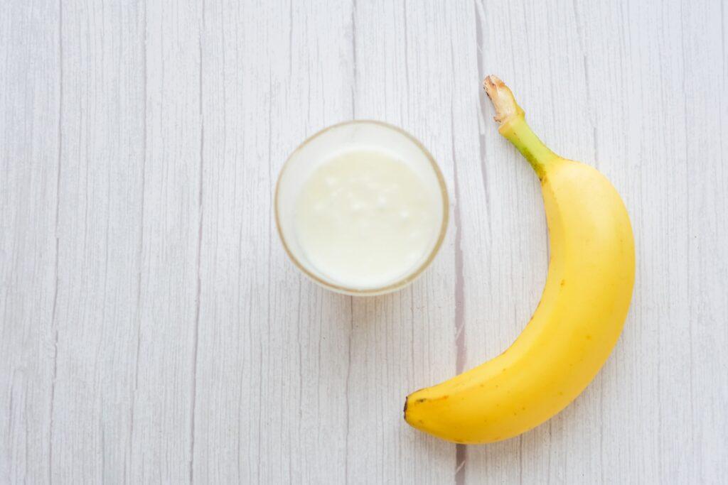 豆乳とバナナ